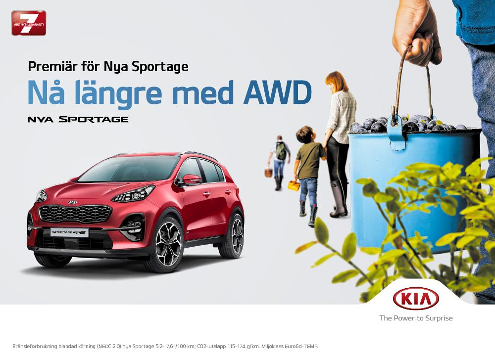 Premiär för nya Kia Sportage – Nå längre med AWD