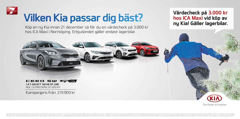 Decemberkampanj-Köp en ny Kia lagerbil få värdecheck på 3000kr