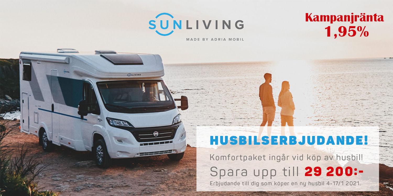Trettonhelgserbjudande på Sun Living husbilar