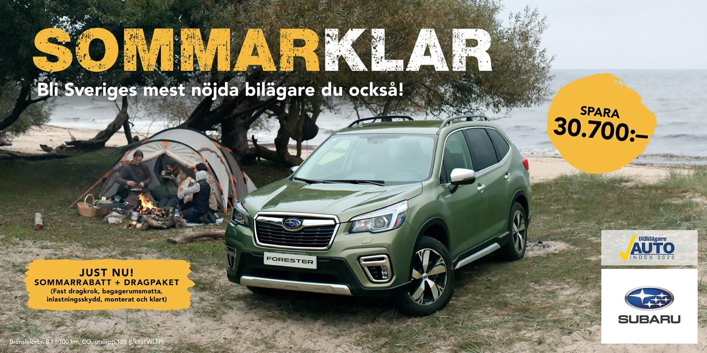 Sommarklar med Subaru