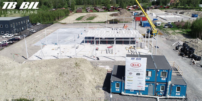 Bygget pågår i Nyköping