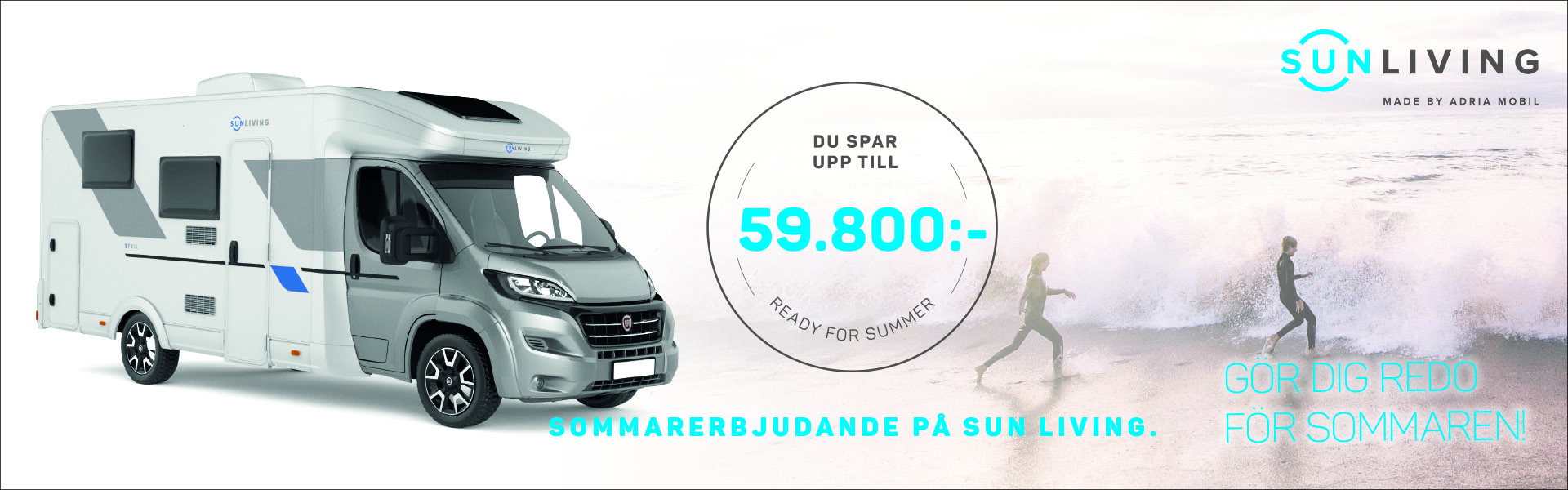 Gör dig redo för sommaren med husbil från Sun Living!